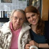 Mom and Ali at the Town Diner, March 23, 2013