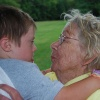 my mother with her youngest grandchild, Luke